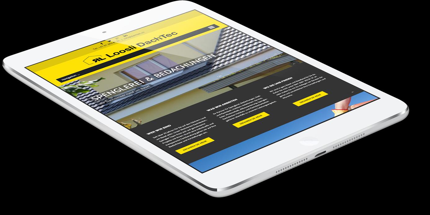 Webseite für Smartphone und Tablet optimiert