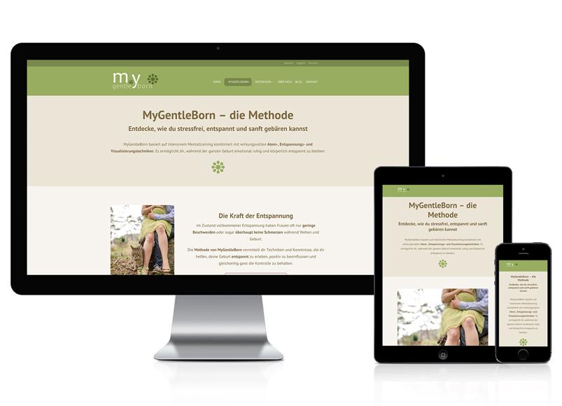 Webdesign für Geburtsbegleitung