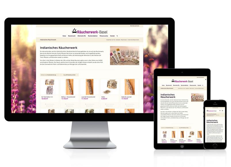 Online-Shop für das Räucherwerk