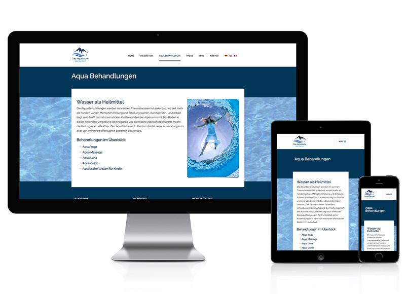 Webseite für Wasserbehandlung