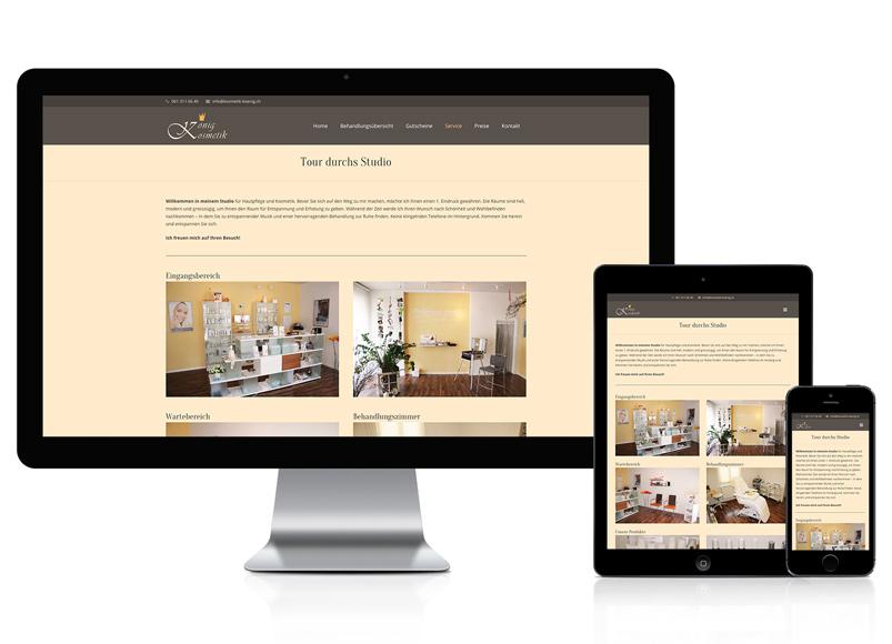 Webseite für Kosmetikstudio