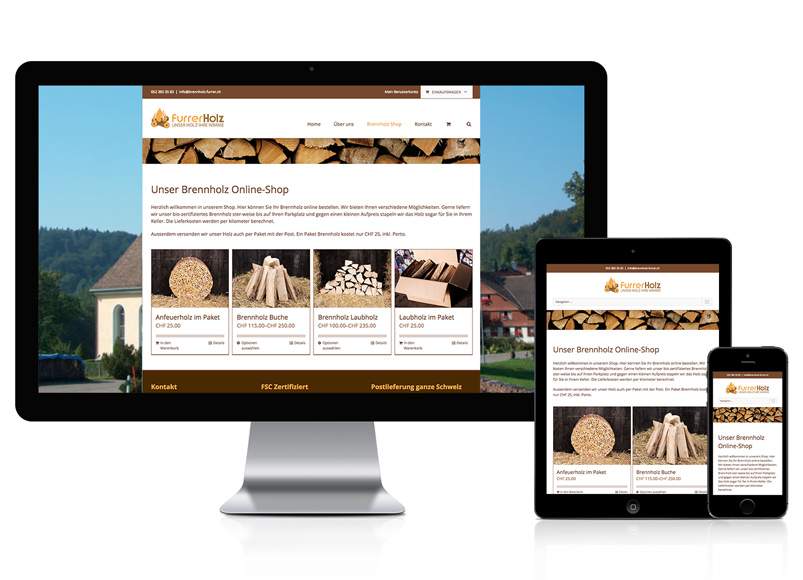 Online-Shop für Brennholz