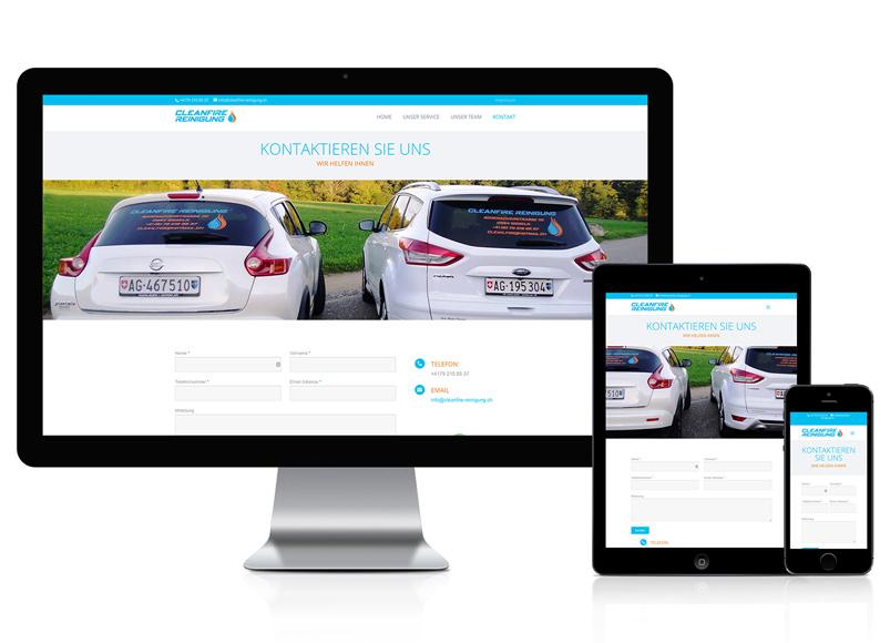 Webdesign für Reinigunsunternehmen