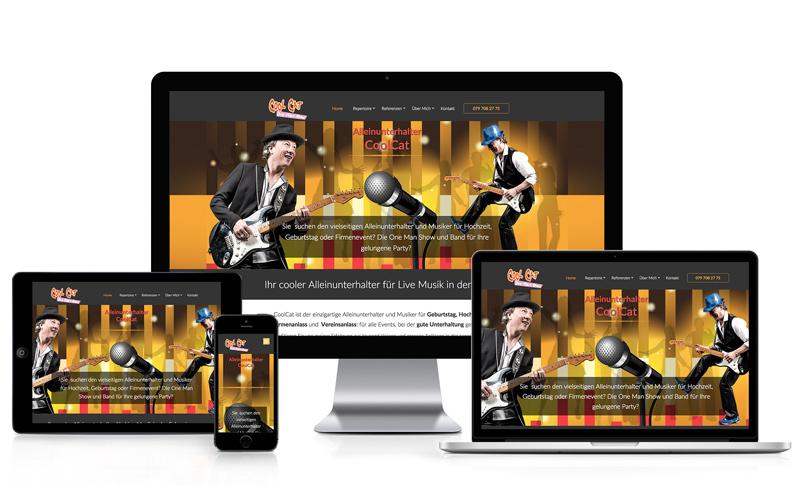 Webseite für Musiker
