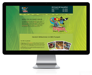 Webseite für einen Freizeitpark