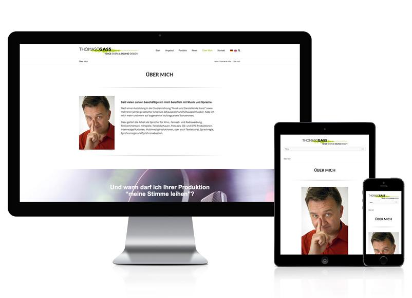 Webdesign für Werbesprecher