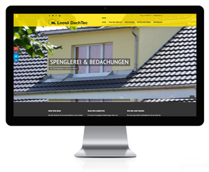 Webseite für Dachdecker