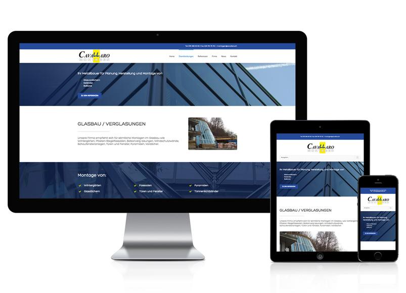 WordPress Webseite für Cavallaro Montagen