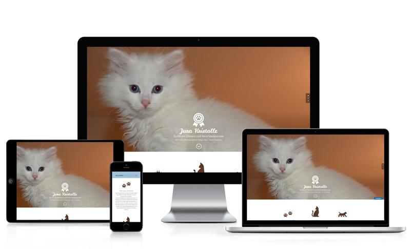 Webseite für Katzenzüchterin