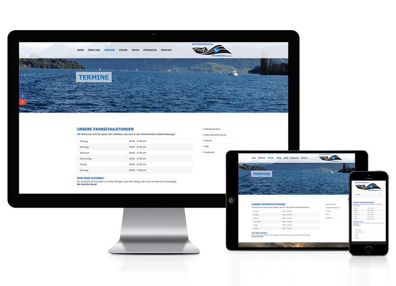 WordPress Webseite für Bootsfahrschule