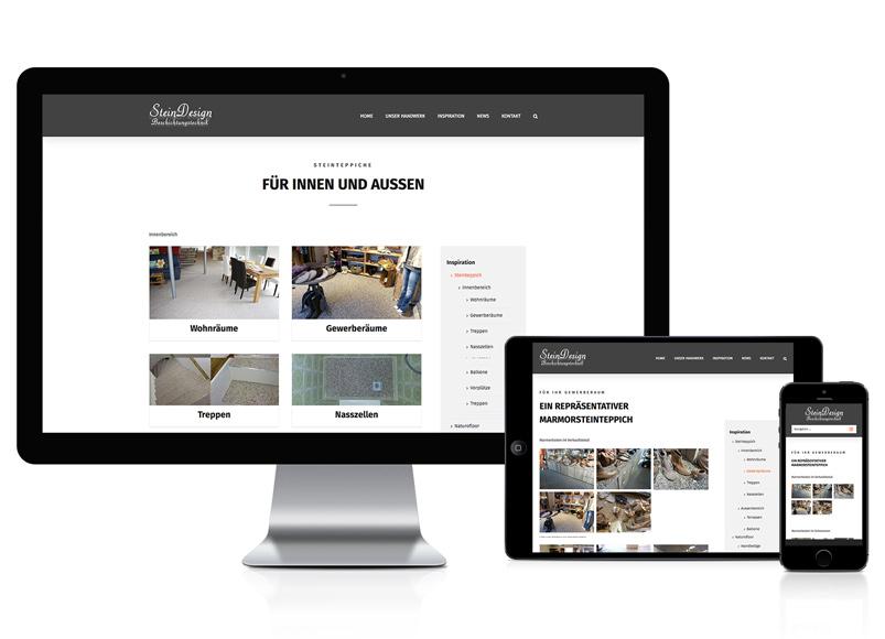 Webseite für SteinDesign
