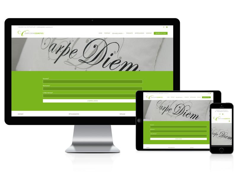 WordPress Webseite für Komsetikstudio