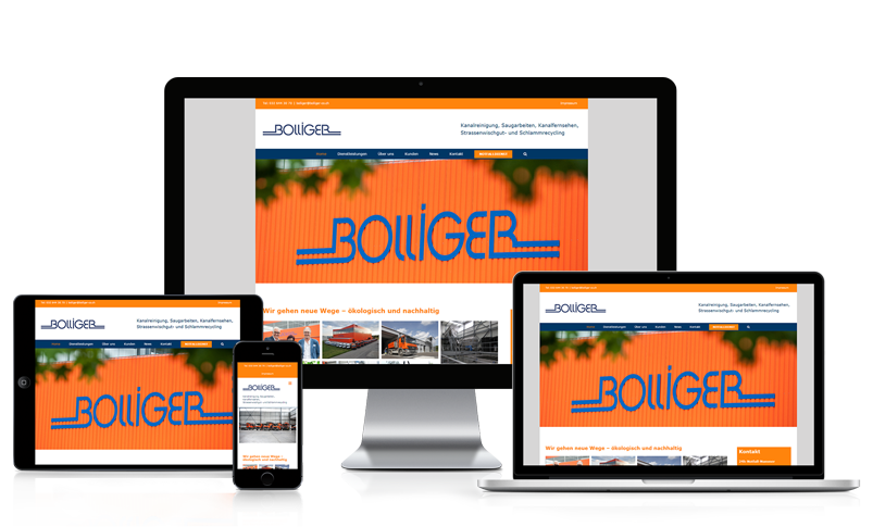 Wordpress Webseite für Bolliger & Co. AG