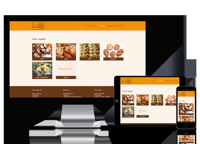 Webseite für Bäckerei