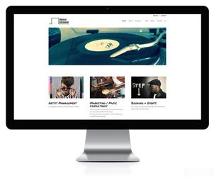 Webseite für AManfredi Entertainment