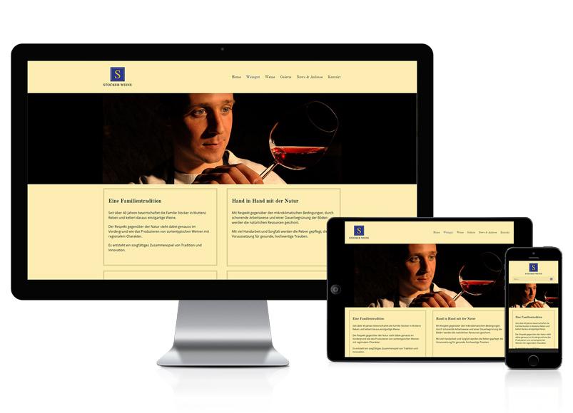 Webseite für Weinbauer