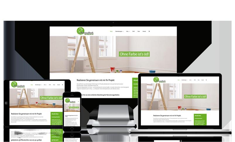 Webseite für Malergeschäft