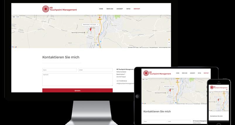 Webseite für Touchpoint Management