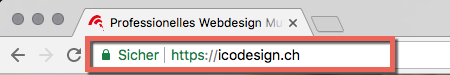 HTTPS Meldung Sicher