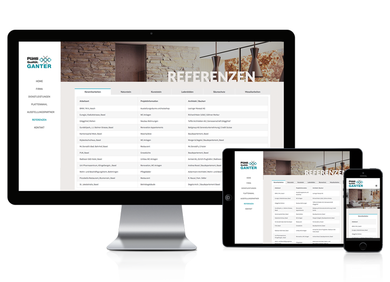 Wordpress Webseite für Plattenleger
