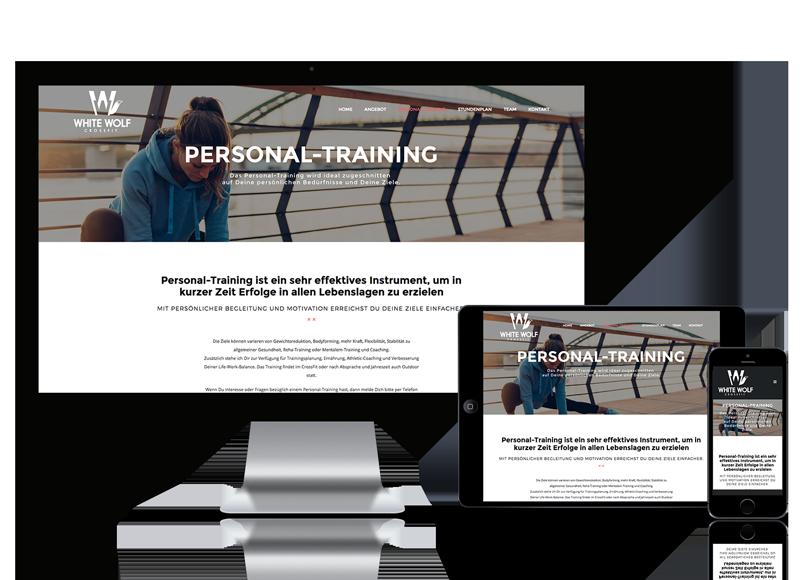 Webseite für Fitnessstudio