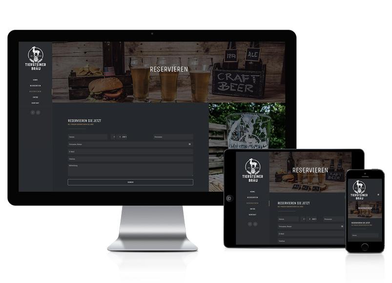 Wordpress Webseite für Brauerei
