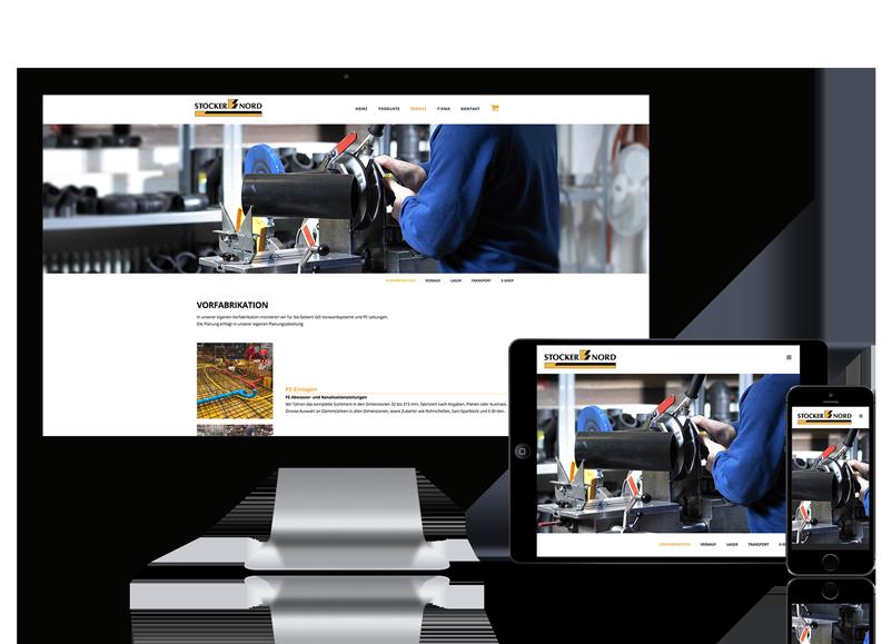 Webseite für Stocker-Nord