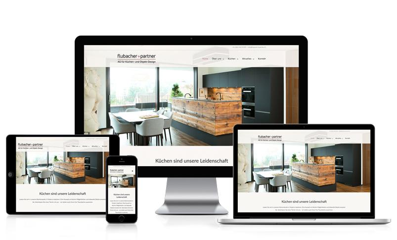 Wordpress Homepage für Küchen Firma