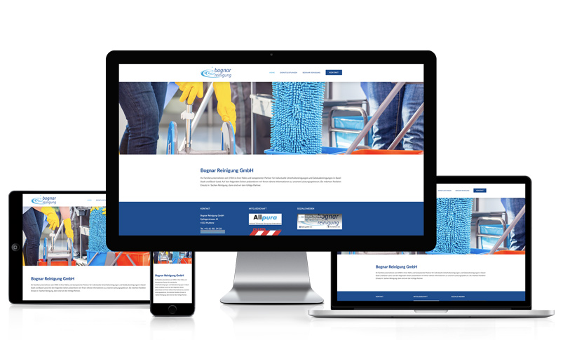 Webseite für Reinigungsunternehmen
