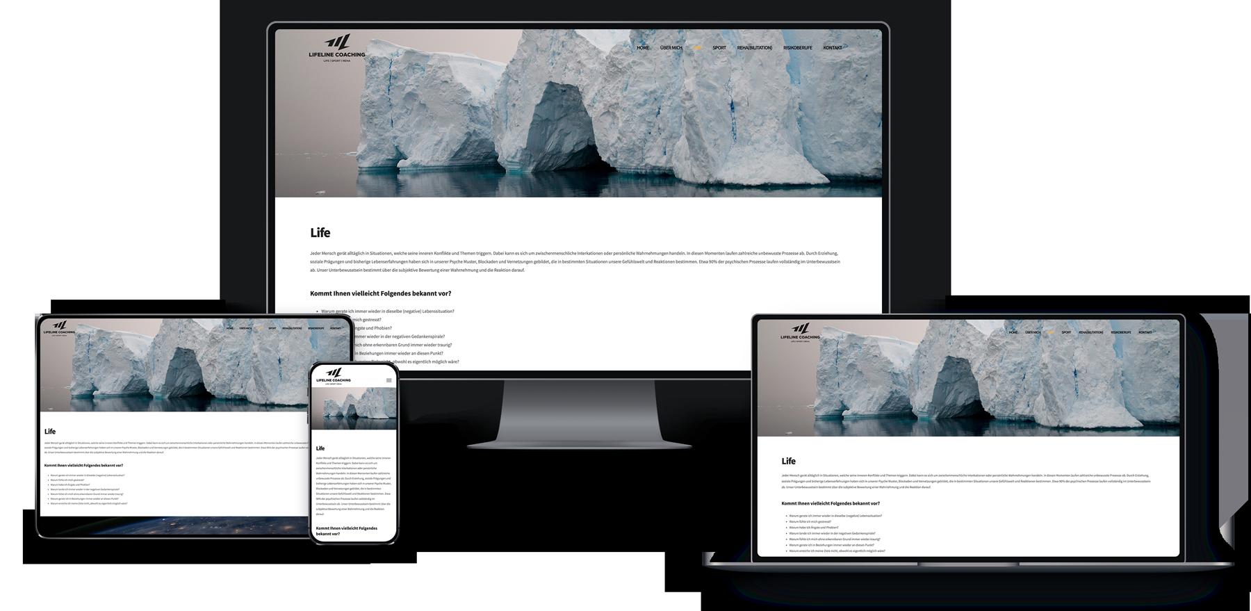 Wordpress Webseite für Coaching