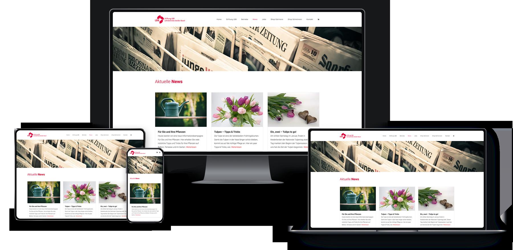 Webseite & Shop für Stiftung LBB