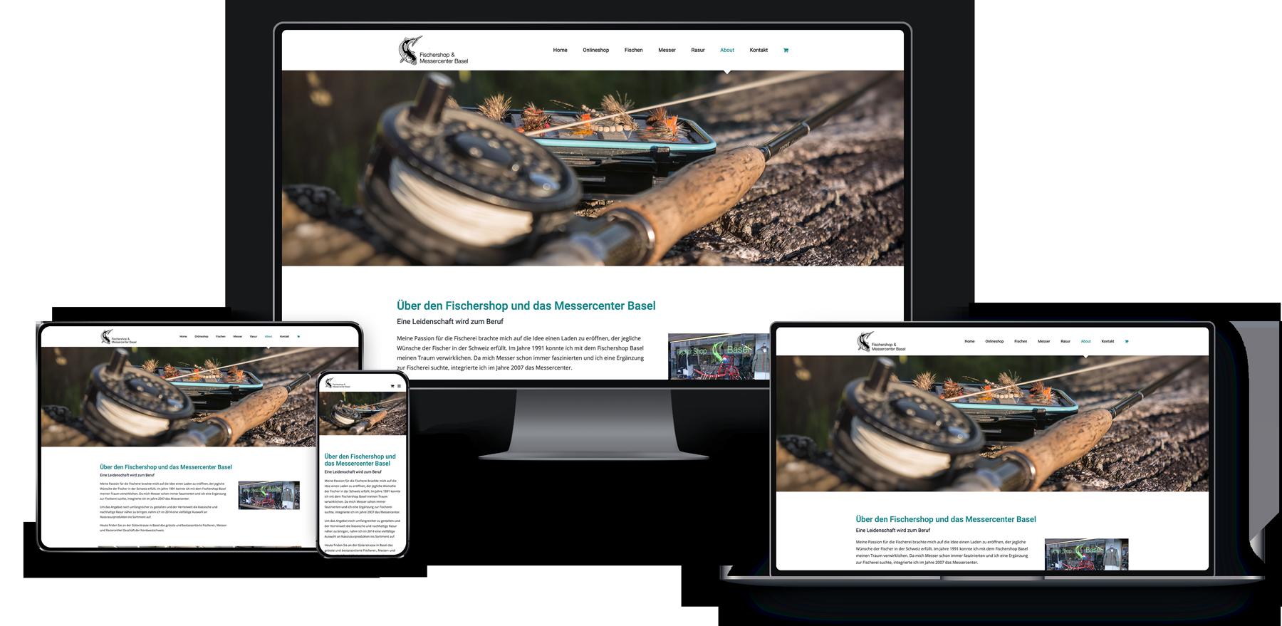 Webseite für den Fischershop-Basel