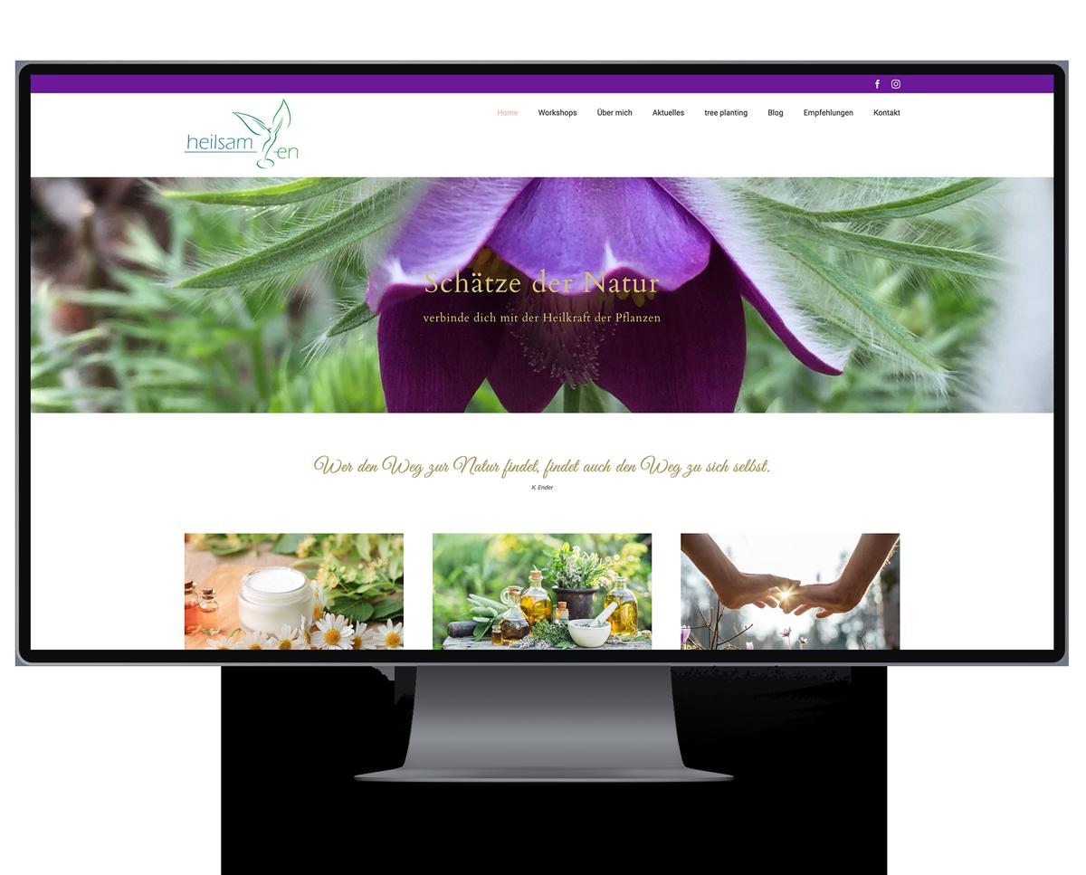 Webseite für Heilsamen