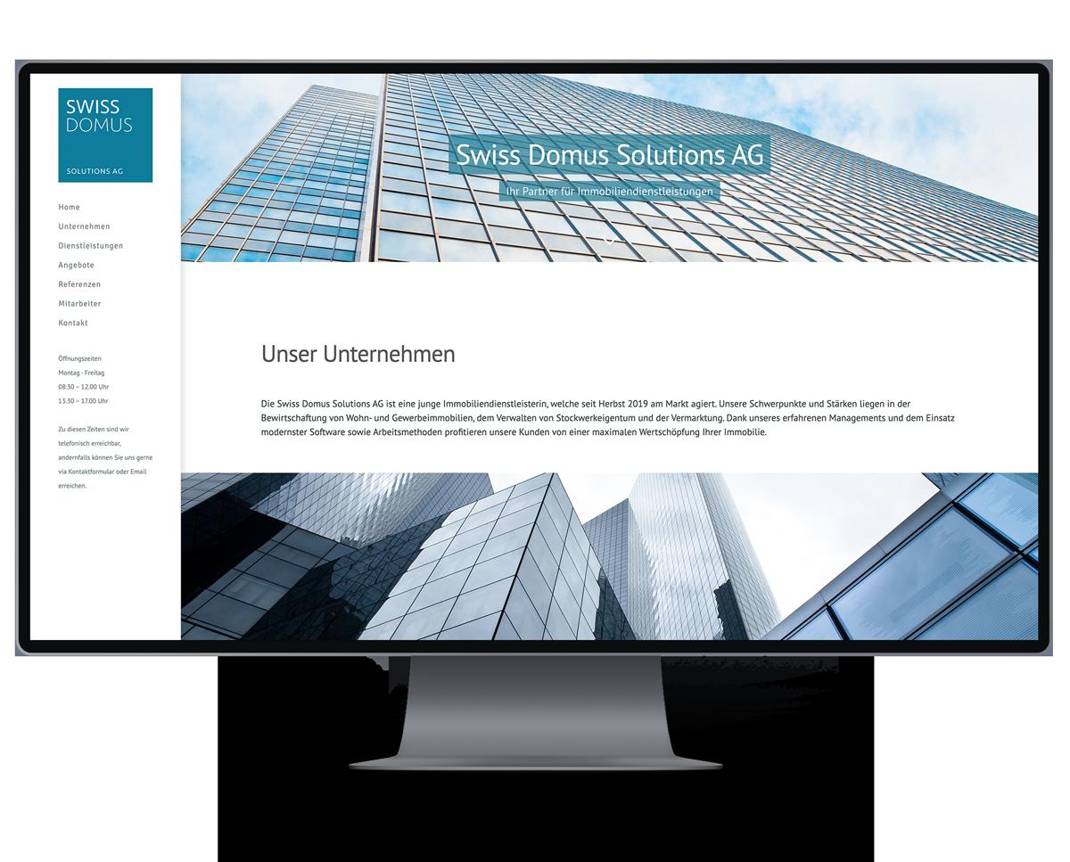 Webseite für Immobilien Firma