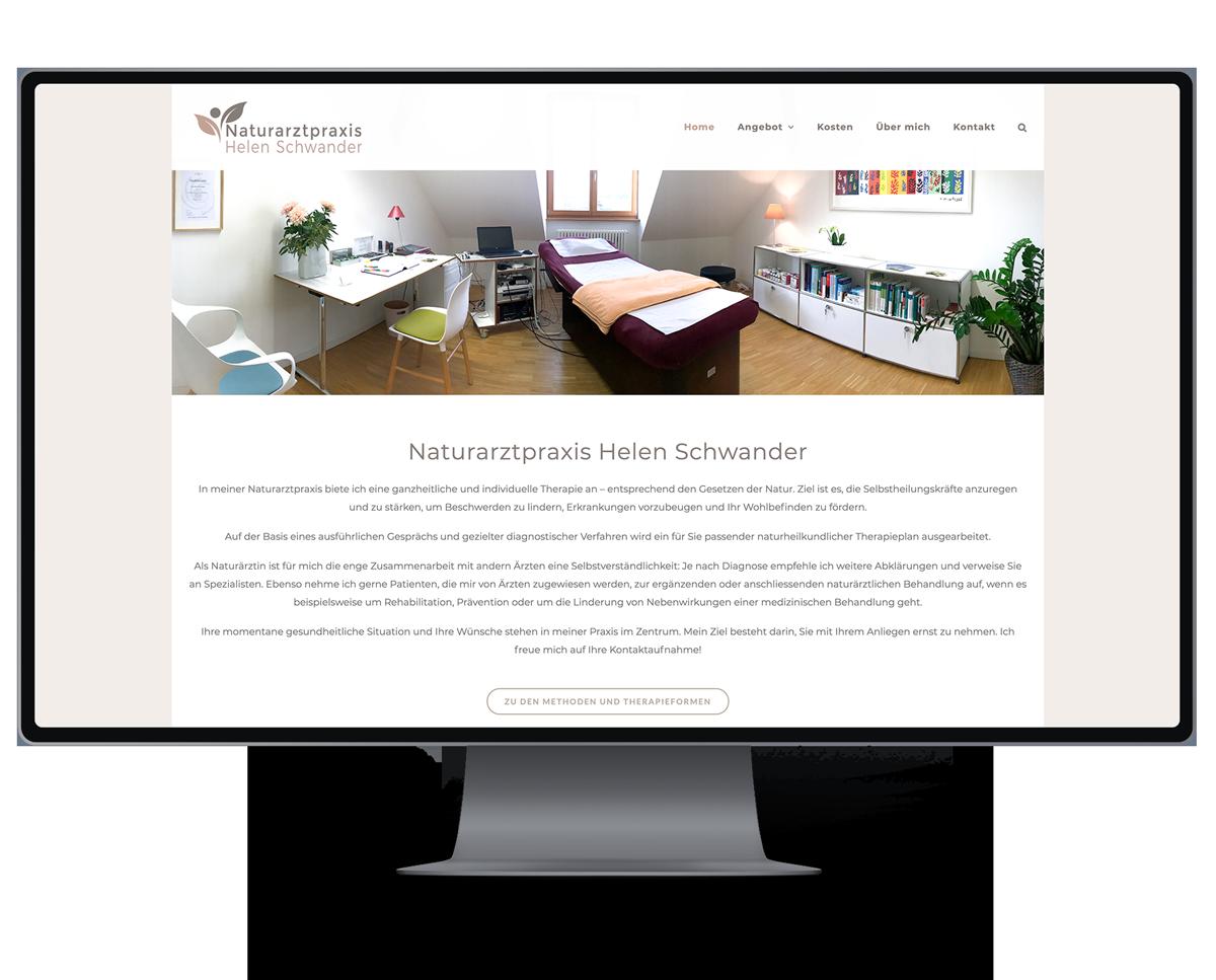 Webseite für Naturarztpraxis