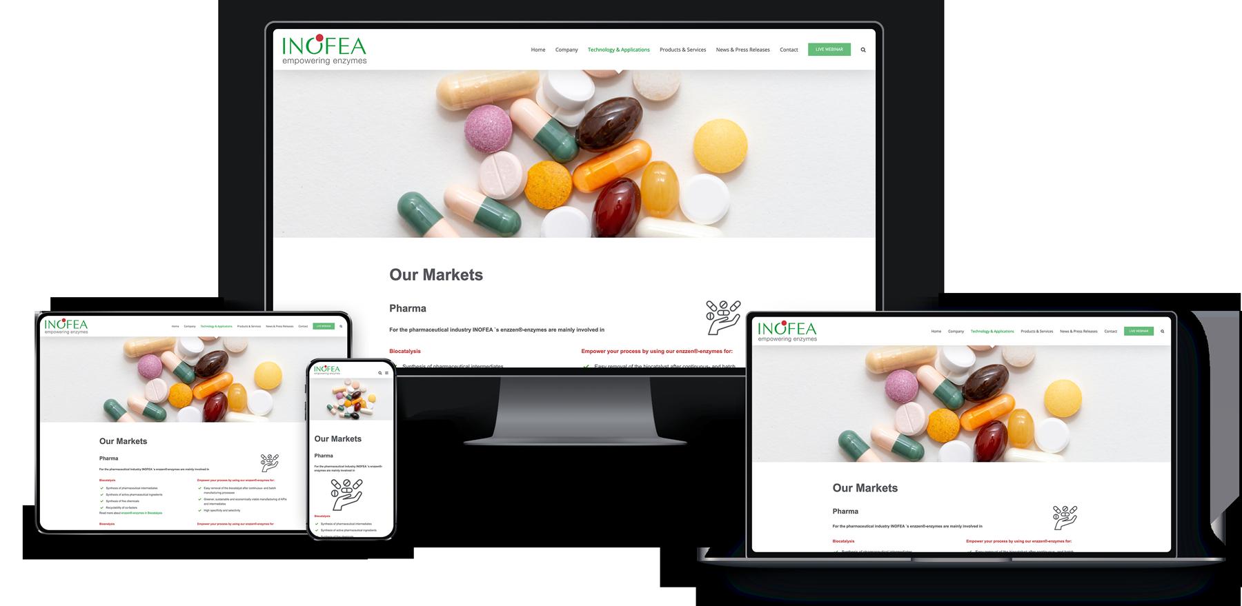 Webseite für Pharmaunternehmen