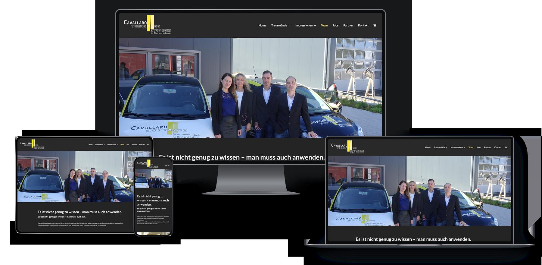 Webseite für System-Trennwände
